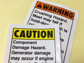 Caution Warning Labels